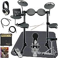 YAMAHA 電子ドラム 初心者 入門 豊富な練習機能を備えたエントリーモデルで、生ドラム用フットペダルを採用したモデル スティック・イス・ヘッドフォン・アンプ・ドラムマット・教則DVDが付いた伊藤楽器オリジナルセット DTX430K