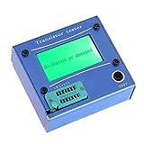 テスター,SODIAL(R) 多機能LEDバックグラウンド照明トランジスタテスター ダイオードサイリスタコンデンサのESR LCRメータ ブルーアルミケース