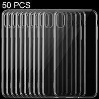 IPhone XS Max用の良い50 PCS 0.75mm TPU超薄型透明ケース Dzle