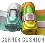 赤ちゃん ケガ防止 ガード コーナークッション ( 2m×2セット ) 自由自在 かんたん設置 取付説明書付 カラー7色 両面テープ付き!