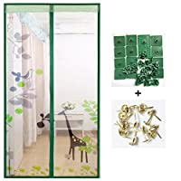 磁気スクリーン ドア蚊無料夏, フルフレーム velcro の自宅寝室の大型メッシュ スクリーンの布の画面のドア メッシュ スナップ自動的にシャット ダウン-G 95x200cm(37x79inch)