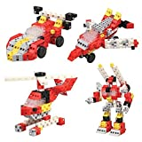 click-a-brickおもちゃRockin ' Racers 100pc–Building Blockセット–Best教育ギフトfor Boys and Girls–Gear Kids Up Stem学習に、想像力、&エンジニアリングFun–作成Endless Combinations 。