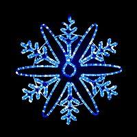 電光ホーム イルミネーション モチーフ ライト 雪の結晶 雪 62cm×62cm snow crystal (ブルー&ホワイトLED)