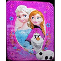 アナと雪の女王 アナ、エルサ&オラフ  Frozen  米国輸入 シルクタッチ ブランケット 毛布 寝具 子供 102×127cm