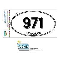 971 - デイトン, OR - オレゴン - 楕円形市外局番ステッカー