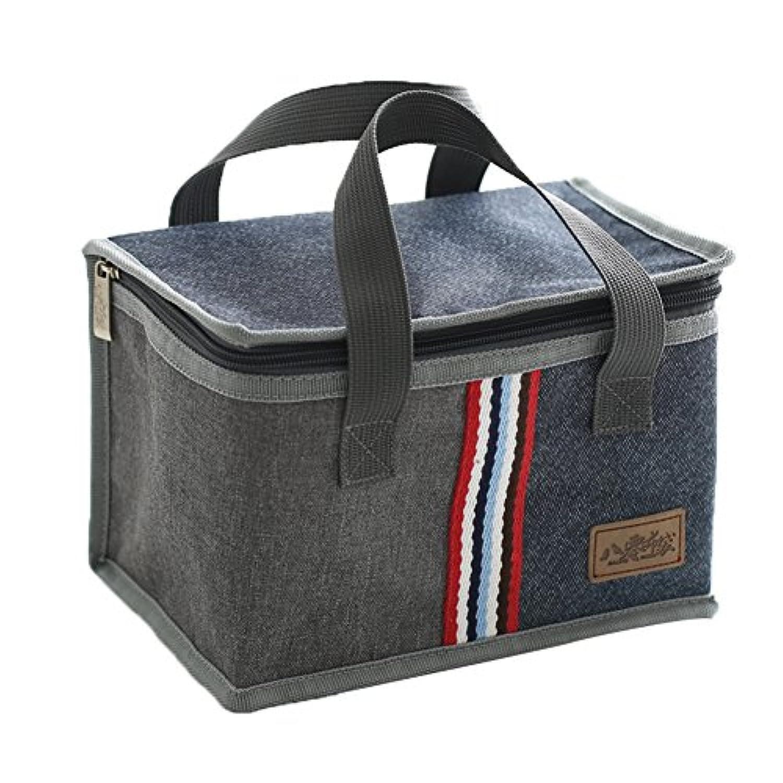 imeetuランチバッグ クーラーバッグ お弁当袋  保冷保温 軽量 大容量 イギリス風(style 3)