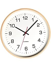 KATOMOKU plywood wall clock 4 km-61NRC ナチュラル 電波時計 連続秒針 φ304mm