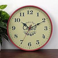 ZLR ファッションミュート クリエイティブパーソナリティウォールクロッククロックリビングルームベッドルームクロック木製ミュートクォーツ時計 ( 色 : D )