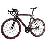 ICAN(アイカン)カーボン ロードバイク SRAM forceグループ UDマット 赤いロゴ 空気力学的なデザイン Vブレーキ 軽量7.36kg