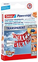 Tesa 58800-00012-00 Powerstrips Deco/Transparent with 16 Strips