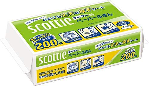 スコッティ ペーパーふきん サッとサッと 400枚(200組...