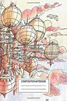 """Notebook: The Flying Village , Journal for Writing, Size 6"""" x 9"""", 164 Pages"""