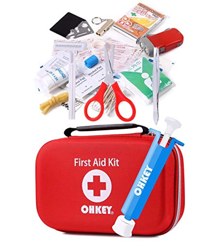 OHKEY 救急 ポイズンリムーバー セット 救急箱 ファーストエイド キット 登山 アウトドア 1年間保証