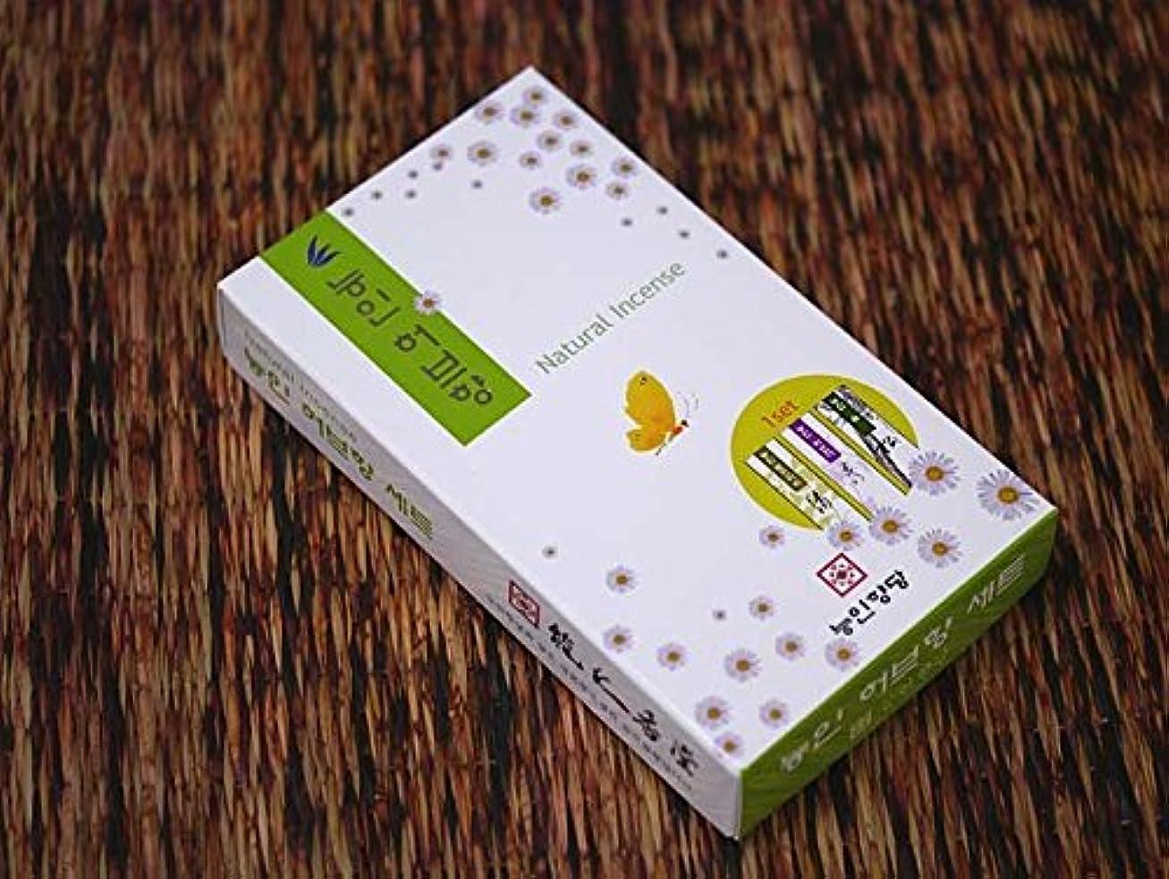送ったマラウイ近代化する能仁香堂 韓国香【ナチュラル3種セット お香立て付】能仁香堂