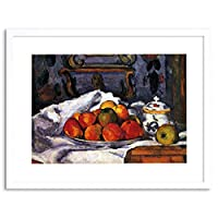 Painting Cezanne Still Life Bowl Of Apples Framed Wall Art Print