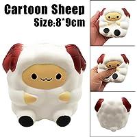 glorrt Cartoon Cute Sheep Squishy Slow Risingクリーム香りつきDecompression Toy Cureギフト