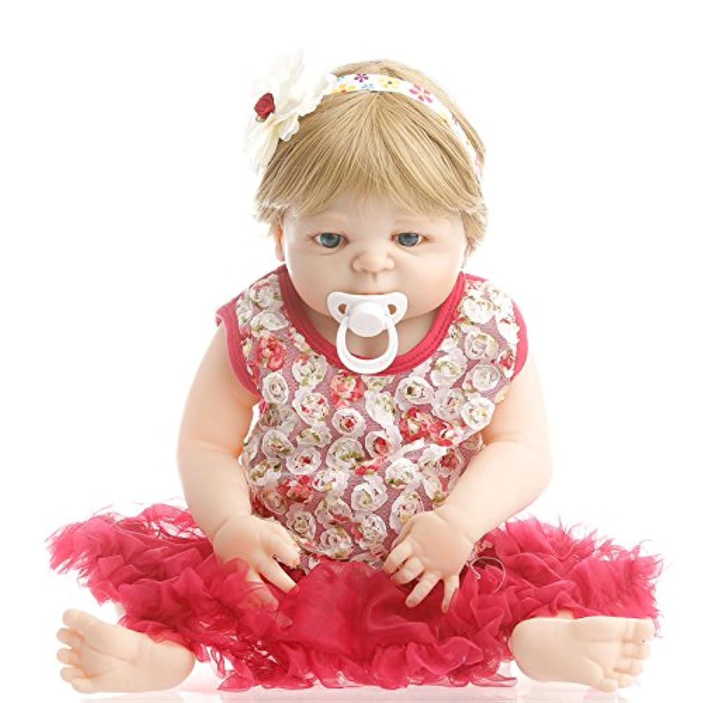 NPK collection Rebornベビー人形リアルな赤ちゃん人形ビニールシリコン赤ちゃん22インチ55 cmレッドスカート
