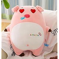 HuaQingPiJu-JP 50cm麻雀豚のぬいぐるみ柔らかいおもちゃの人形クッション超柔らかい玩具ピロー子供ギフト(ピンク)