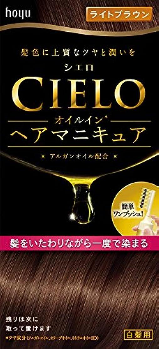 みがきますの面では食物シエロ オイルインヘアマニキュア ライトブラウン×6個