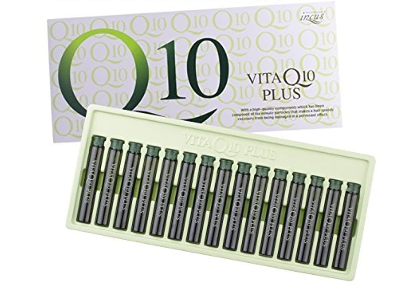 電化するこねるスワップIncus ビタミン Q10 プラス ヘア クリニック アンプル 13ml x 15 (Incus Vita Q10 Plus Hair Clinic ampoules 13ml X 15ea) [並行輸入品]