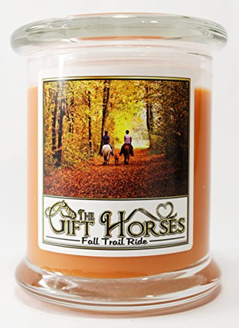 立法知り合い思い出させるすべての自然大豆ワックスScented Candle – クリーン燃焼、長持ち、パラフィンフリー( 12オンス、Fall Trail Ride )