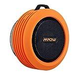 Mpow ポータブル Bluetooth スピーカー Sport 防水スピーカー 吸盤式 内蔵マイク付 防滴仕様 (オレンジ) 改良版