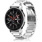 Fintie Band for Gear S3 / Galaxy Watch 46mm, 22mm Quick Release Stainless Steel Metal Replacement Strap Bands for Samsung Gear S3 Frontier / S3 Classic/Galaxy Watch 46mm Smartwatch, Silver