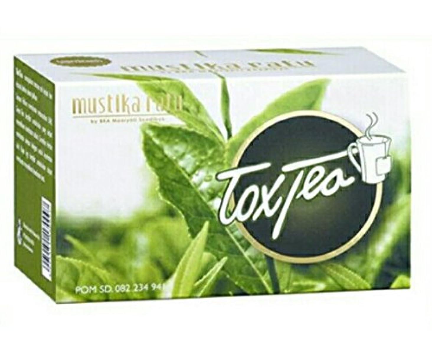 ビスケット一過性規制するMustika ratu Tea ムスティカラトゥトックスティー3箱x 15個のティーバッグ= 45個のティーバッグ