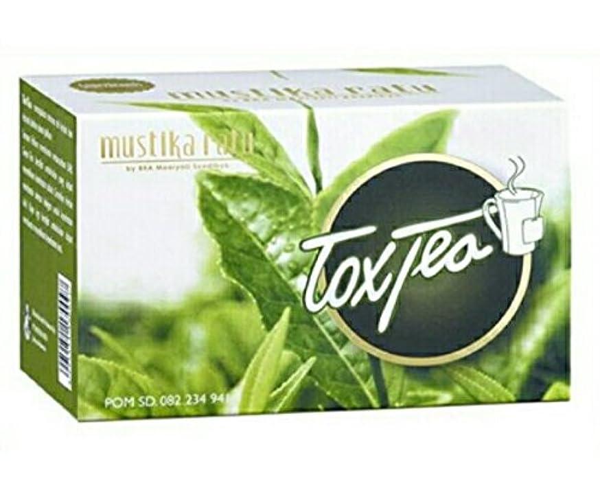 ホーン詳細にせせらぎMustika ratu Tea ムスティカラトゥトックスティー3箱x 15個のティーバッグ= 45個のティーバッグ
