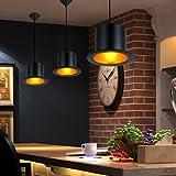 LightInTheBox European Style Black Aluminum Metal Painting Top Hat Pendant Lamp 1 Light Ceiling Fixture [並行輸入品]