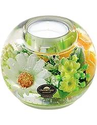 ドリームライト マーキュリー スプリングフラワー キャンドルホルダー ガラス キャンドルスタンド