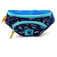 Waist Fanny Hip Pack Bag for Kids, Children, Girls (Whale Friends-Navy)