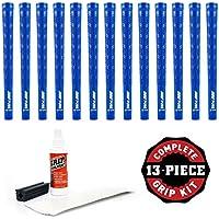 PureグリップDTXグリップキットwithテープ、溶剤、バイスクランプ( 13-piece、中堅企業、ブルー