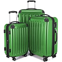Hauptstadtkoffer Alex Set of 3 Luggages Suitcase Hardside Spinner Trolley Expandable TSA Green Set