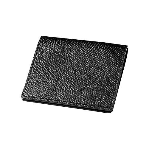 GRAMAS Money Clip Coin Case (Black × Black)