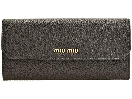 (ミュウミュウ) MIUMIU 財布 長財布 二つ折り パスケース付 5MH379 レザー ブランド [並行輸入品]