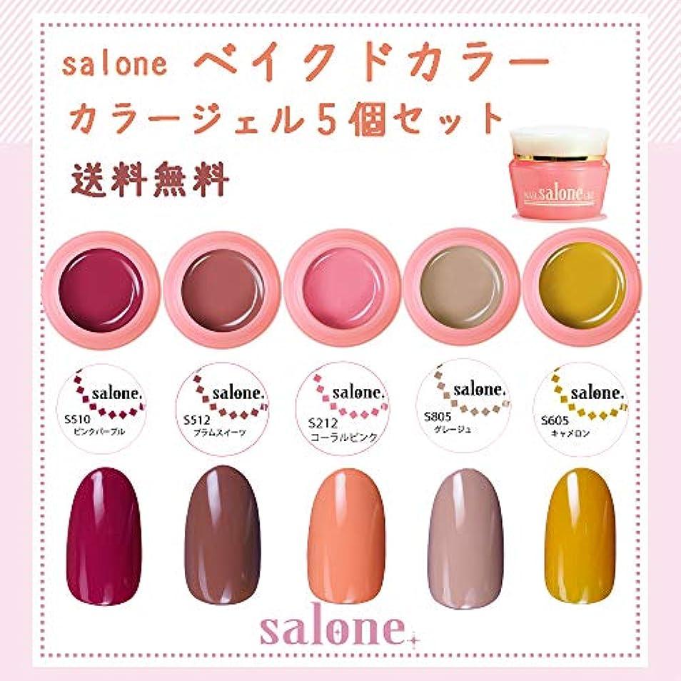 意味する教えおなじみの【送料無料 日本製】Salone ベイクドカラージェル5個セット 大人っぽく暖かく大人可愛いトレンドカラー
