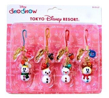 東京ディズニーリゾート 2017 クリスマス スノースノーグッズ ストラップセット...