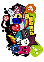 ポスター ウォールステッカー シール式ステッカー 飾り 728×1030㎜ B1 写真 フォト 壁 インテリア おしゃれ 剥がせる wall sticker poster pb1wsxxxxx-001077-ds クール ユニーク 音楽 レコード
