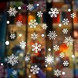 WTOR 大量 窓ガラス ステッカー 174pcs ウォールステッカー 北欧風 雪の結晶 雪花 剥がせる壁紙 シール DIYインテリアステッカー 店舗 パーティー 飾り用品 雰囲気満点