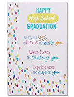 (Dreams Adventures Experiences) - American Greetings High School Graduation Card with Glitter
