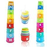 Seliyi かさねやすいコップ つみかさねカップ 赤ちゃん・幼児のおもちゃ 1セット (クマ)