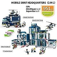 ZGNN市互換組み立てる刑務所刑務所 LegoED 携帯コマンドセンター SWAT 警察署ビルディングブロックレンガ子供男の子のおもちゃのギフトおもちゃの車のる