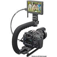 Proビデオ安定ハンドルScorpionグリップfor : Casio Exilim EX - ex-p600垂直シューマウントスタビライザーハンドル