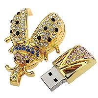 RETYLY クリスタルビートル形状 USBフラッシュドライブ ペンドライブ Uディスクペンドライブ Uディスクメモリフラッシュドライブ(128GB)