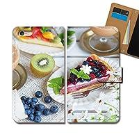 Xperia Z1 SO-01F ケース 手帳型 食べ物 手帳ケース スマホケース カバー スイーツ ケーキ ブルーベリー イチゴ E0331040050104