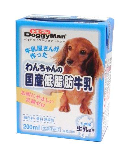わんちゃんの国産低脂肪牛乳 全犬種用 200ml×24個入り