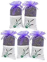 5点100% Pure DriedラベンダーBuds Sachet、リラックス、健康なNatural Air Freshener