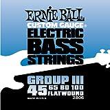 【国内正規輸入品】ERNIE BALL アーニーボール ベース弦 フラットワウンド 2806 FLAT WOUND GROUP3 フラット・ワウンド グループ3