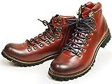 ZEENO(ジーノ) マウンテンブーツ トレッキング ブーツ シューズ サイドジップ メンズ 靴 替え紐付き 25.5cm Red 赤色 レッド